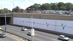 The Dettol outdoor billboard has created a multi-sensory experience with traffic counter cables creating a heartbeat sound effect, as cars pass over the Johannesburg M1 highway.
