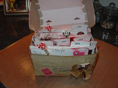 The inside of Valentines Box made for hubby