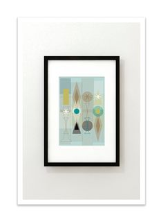 SET no.60  Giclee Print  Mid Century Modern Danish by Thedor, $24.00