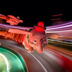 First photo from this weekend at Walt Disney World. Long exposure while riding Dumbo. #disney #wdw #waltdisneyworld