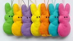 Marshmallow bunny Easter Bunny Ornaments Set of by DevelopingToys