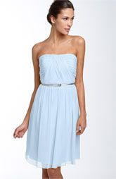 Donna Morgan Belted Chiffon Dress -- nordstrom