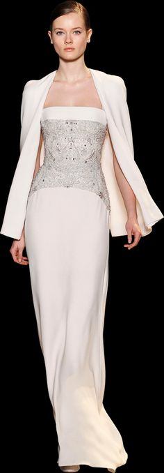 Evening gown, couture, evening dresses, formal and elegant ELIE SAAB Haute Couture Spring Summer 2013