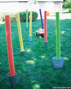 """how to throw an obstacle course party"" -lots of different fun games! - (I'm going to add some of these to my next kid party)"