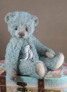 Little Blue by Tami Eveslage, qa nice teddy bear, he looks very cuddly!