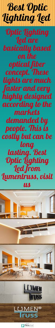 Optic Lighting Led are basically based on the optical fiber concept. These lights are much faster and very highly designed according to the markets demanded by people. This is costly but can be long lasting. Best Optic Lighting Led from Lumentruss, visit: https://www.lumentruss.com/category/lens/