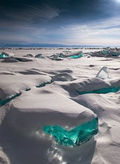 Turquoise Ice - Lake Baikal, Russia great website for pictures for inferencing, writing starters, etc