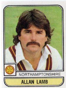 "He was the ""Lamby"" to Ian Botham's ""Beefy, Northants and England batsman Allan Lamb. Ian Botham, Cricket Match, Crickets, Moustaches, Lamb, Legends, My Life, England, Baseball Cards"