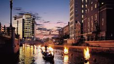 Gondola through WaterFire in Providence. Still hoping I can see this amazing event this summer! Oh The Places You'll Go, Places To Travel, Places To Visit, Waterfire Providence, Last Minute Getaways, Providence Rhode Island, After Dark, Where To Go, New England