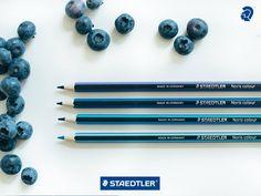 Staedtler -  Een oceaan 🌊 blauwe lucht 🌃 tropische vogels 🐦 blauwe bessen ...! 💙  Wat zou je nog kleuren met de mooie blauwe tinten van onze Noris Colour kleurpotloden ?
