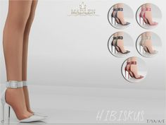 Hibiskus Shoes for The Sims 4