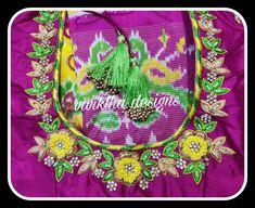 Zardosi Work, Work Blouse, Drawstring Backpack, Sarees, Blouses, Women's Fashion, Bridal, Flower, Detail