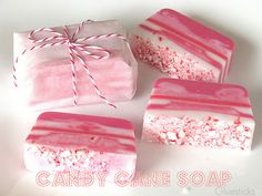 DIY: Candy Cane soap...what a nice gift!