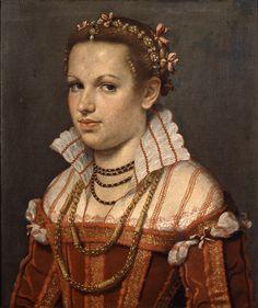 Giovan Battista Moroni, Ritratto di Isotta Brembati Grumelli, 1550-1555, olio su tela, prestato al Museo Arte Tempo di Clusone (Bg)