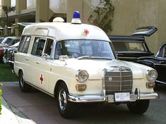 Mercedes-Benz Exhibition at Fashion Island - 1967 Mercedes 230 Ambulance