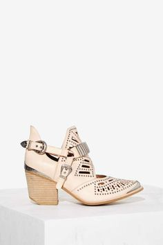 Jeffrey Campbell Calhoun Leather Ankle Boot - Beige - Shoes