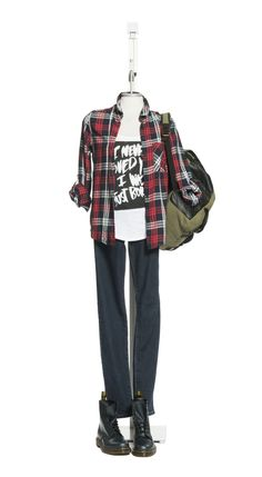 Plaid will instantly add energy to any outfit this fall. Be careful not to overdo it though, because your outfit can start to appear messy! Garage Clothing, Fall Plaid, Jeggings, Latest Fashion, Autumn Fashion, School 2013, Clothes For Women, Boots, Jeans