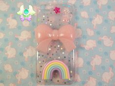 Kawaii Pastel Pink Glitter Phone Case for iPhone by SammysJewels