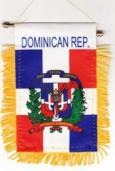 - Dominican Republic - Hanging Flag for cars, and windows, etc - perfect way to show your pride