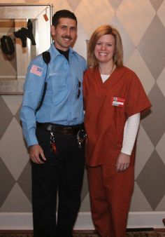 Orange is the New Black Halloween Costumes - Piper Chapman and Pornstache - Old Town Home