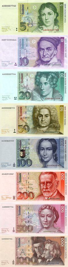 Die wunderschöne Deutsche Mark (former German currency) Good Old Times, Learn German, Coin Collecting, Graphic, Childhood Memories, Nostalgia, Retro, Banknote, Valuable Coins