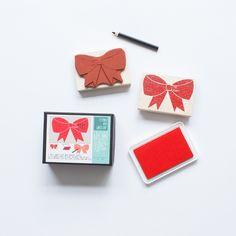 Custom Gift Bow Stamp Kit - Yellow Owl Workshop - $22.00 - domino.com