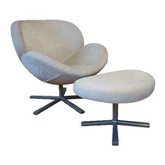 BoConcept Shelly Living Chair & Ottoman - $3,000 Est. Retail - $995 on Chairish.com