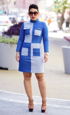 MY DIY PATCHWORK DRESS + PATTERN REVIEW M7539   Mimi G Style Classy Dress, Classy Outfits, Cute Outfits, African Wear, African Fashion, Diy Fashion, Fashion Outfits, Fashion Design, Work Fashion