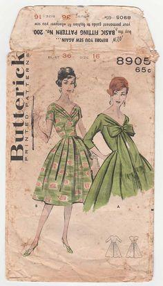7c12179f84 Women s Rockabilly Dress Sewing Pattern Misses Size 16 Sukienki Vintage