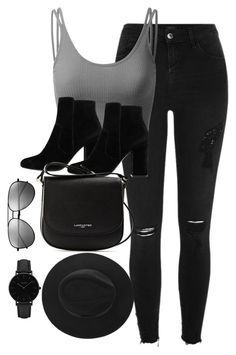 """Untitled #2950"" by theaverageauburn on Polyvore featuring River Island, Doublju, MANGO, Lancaster, Yves Saint Laurent and CLUSE"