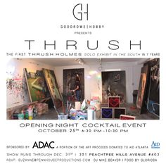 Invitation to Thrush Homes Solo Exhibit