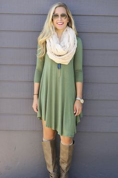 Never Let Go Olive V-Neck Quarter Sleeve Dress // Amazing Lace Wanelo App for - Shopify Online Store - Start your shopify store with 14 days free trial. - Never Let Go Olive V-Neck Quarter Sleeve Dress // Amazing Lace Wanelo App for Shopify Look Fashion, Fashion Outfits, Womens Fashion, Fashion Ideas, Cute Dresses, Dresses With Sleeves, Casual Dresses, Fall Outfits, Cute Outfits