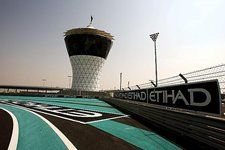 First corner and Shams Tower. Formula One World Championship, Rd 17, Abu Dhabi Grand Prix, Preparations, Yas Marina Circuit, Abu Dhabi, UAE, Wednesday, 28 October 2009  © Sutton Images. No reproduction without permission