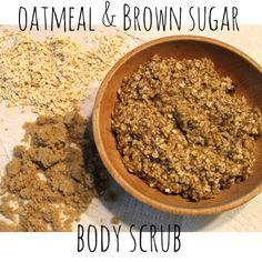 Homemade OATMEAL & BROWN SUGAR BODY SCRUB -easy recipe! Great for Fall...