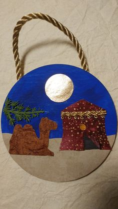 Day four of the Jesse Tree Ornament Advent Jessie Tree Ornaments, Christmas Ornaments, Tree Tent, Paper Crafts For Kids, Artsy Fartsy, Nativity, Camels, Holiday Decor, Advent