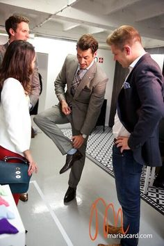 Twitter / JasKaurr: alking about @LondonSockCo with David Gandy yesterday. Photo by @Maria Scard. Article coming soon @Menswear Style - june 15, 2014