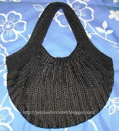 * Pérolas do Crochet: Bolsa Fat bag - Bolsa de crochet - crochet bag