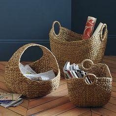 more basket storage options for living room