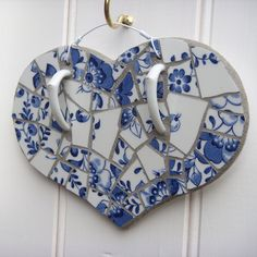 "Folksy :: Buy ""Blue & White Mosaic Heart Decoration"" | Craft Juice495 x 495193.9KBwww.craftjuice.com"