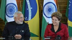 Modi Meets Brazilian President Dilma Rousseff in Brasilia
