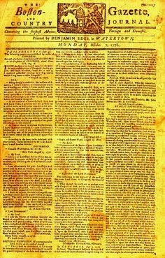 The Boston Gazette.. this site has early american history stuff