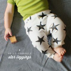 These are soo cute. DIY baby leggings