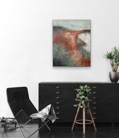 Original Painting of Fall Landscape — Impressionist Landscape with Robert Frost Poetry