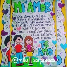 Ideas Para Fiestas, Gifts For Him, Anniversary Gifts, Art Drawings, Diy And Crafts, Smurfs, Valentines, Romantic, Lettering