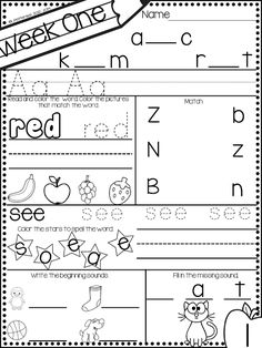 Pocket Full of Kinders!: September Morning work for kinders. Morning work provides a focused task for the little ones and is a great way to provide systematic review of foundational skills $