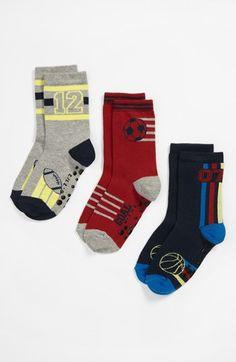 Nordstrom 'Biggest Fan' Crew Socks (3-Pack) (Walker, Toddler & Little Kid) available at #Nordstrom