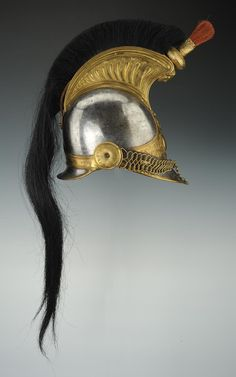 French; Cuirassier' s Helmet, 1825 model, modified 1830(neck band is stamped 1838)