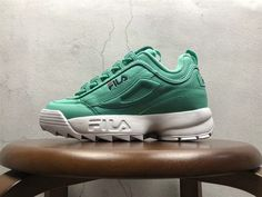 2018 Authentic Couple Fila Disruptor II Synthetic Aqua Green Blue Red White FW01655-303