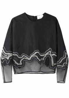 Phillip Lim / Embroidered Organza Top (looks like agate) Fashion Details, Look Fashion, Diy Fashion, Fashion Outfits, Womens Fashion, Fashion Design, Fashion Black, Fashion Weeks, Paris Fashion