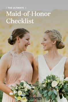 It's quite a privilege to be named the bride's right-hand woman—which is why we suggest researching your job before wedding planning is in full swing. 2015 Wedding Dresses, Wedding 2015, Wedding Bride, Wedding Blog, Gown Wedding, Wedding Planning Timeline, Before Wedding, Sophisticated Bride, Lace Weddings